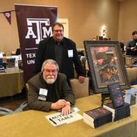 Hardin with Dr. Donald Frazier of McMurry University