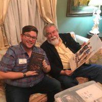 Artist Wade Dillon with Hardin